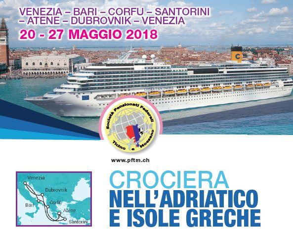 Crociera nell'Adriatico e Isole Greche 20-27 maggio 2018